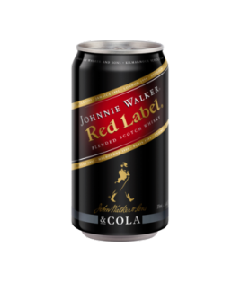 Johnnie Walker Red Label & Cola Cans